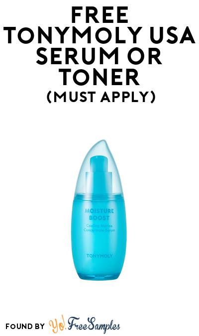 FREE TONYMOLY Serum or Toner At BzzAgent (Must Apply)