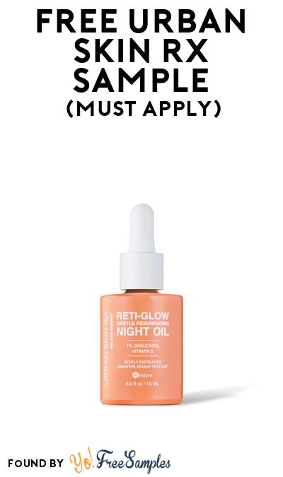 FREE Urban Skin Rx Sample At BzzAgent (Must Apply)