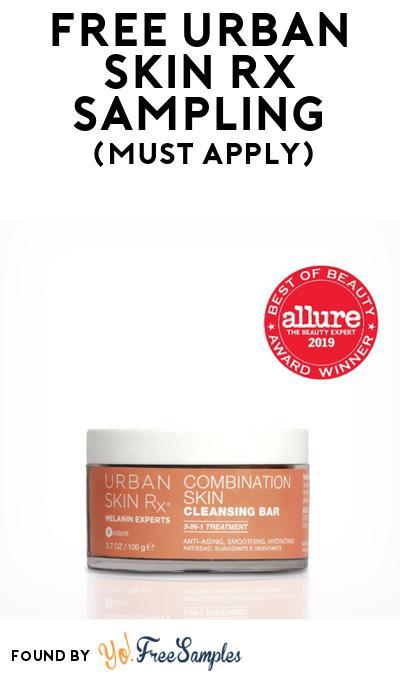 FREE Urban Skin Rx Sampling Kit At BzzAgent (Must Apply)