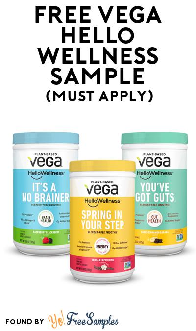FREE Vega Hello Wellness Sample At BzzAgent (Must Apply)