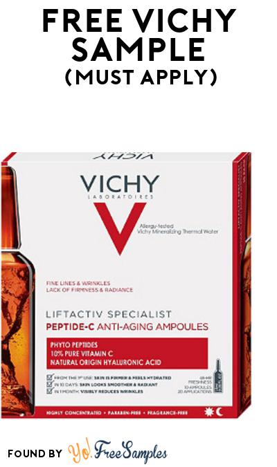 FREE Vichy Sample At BzzAgent (Must Apply)