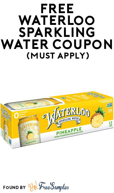 FREE Waterloo Sparkling Water At BzzAgent (Must Apply)