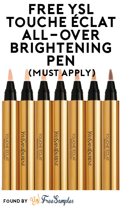 FREE Ysl Touche Éclat All-Over Brightening Pen At BzzAgent (Must Apply)