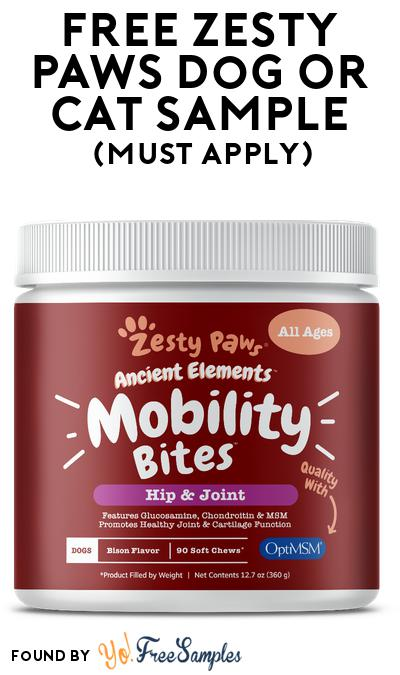 FREE Zesty Paws Dog Or Cat Sample At BzzAgent (Must Apply)