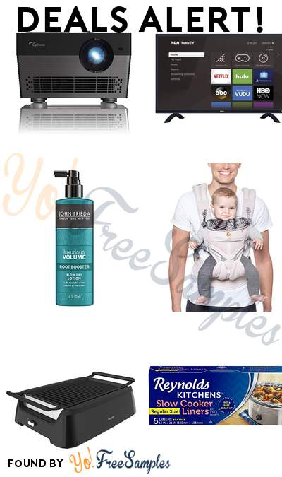 DEALS ALERT: Optoma 4K LED Smart Projector, RCA 55″ Class 4K Ultra HD, John Frieda Root Booster, Ergobaby Carrier & More