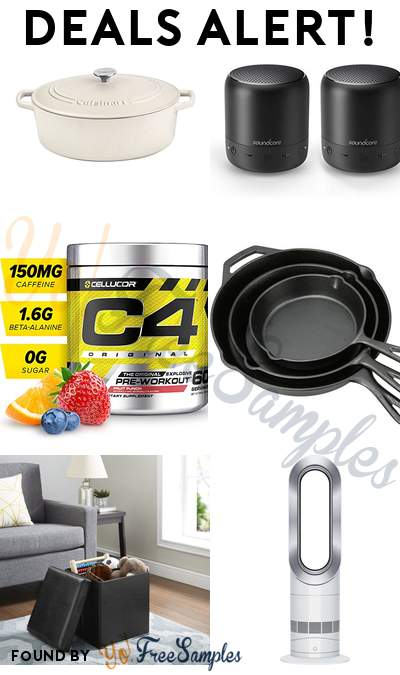 DEALS ALERT: Cuisinart Oval Casserole 7 Qt, Anker Mini Pocket Bluetooth Speakers 2-Pack, C4 Original Pre Workout Powder, Ozark Trail 3 Piece Cast Iron Skillet Set & More
