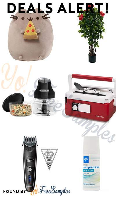 DEALS ALERT: GUND Pizza Plush Cat, Nearly Natural Hibiscus Tree, BLACK+DECKER 4-Cup Glass Bowl Electric Chopper, Presto Traveling Slow Cooker & More