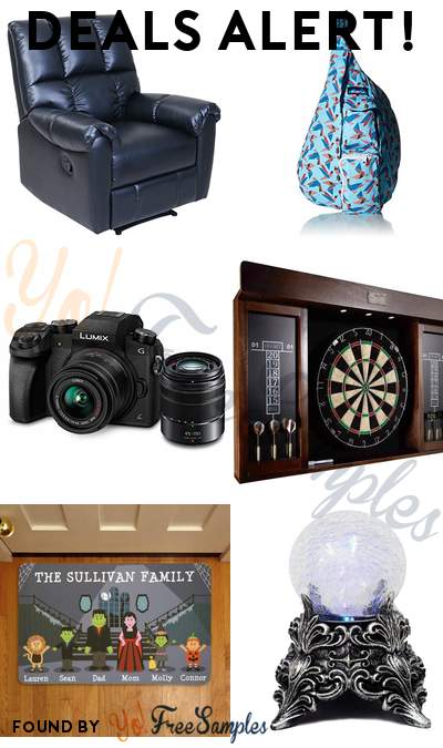 DEALS ALERT: Barcalounger Relax & Restore Recliner, KAVU Women's Rope Bag, PANASONIC LUMIX G7 4K Digital Mirrorless Camera Bundle, Barrington 40 Inch Dartboard Cabinet with LED Light & More