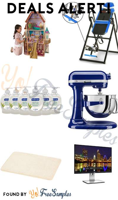 DEALS ALERT: KidKraft Belle Enchanted Dollhouse, Fitness Reality Inversion Table, Softsoap Aloe Liquid Hand Soap 6-Pack, KitchenAid 6 Qt. Professional 600 Series Bowl-Lift Stand Mixer & More