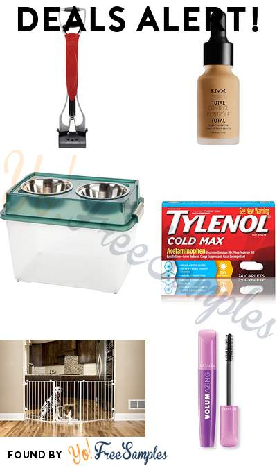 DEALS ALERT: Nature's Miracle Pet Waste Pick Up Jaws, NYX Drop Foundation, Pet Feeder with Airtight Storage, Tylenol Cold Max Daytime Caplets & More