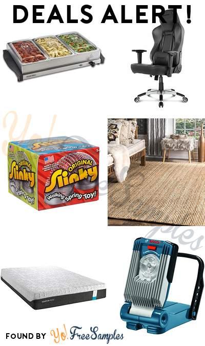 DEALS ALERT: Buffet Server & Food Warming Tray, AKRacing Obsidian Ergonomic Computer Chair, Slinky Original Brand, Hand Woven Jute Rug 5′ x 8′ & More