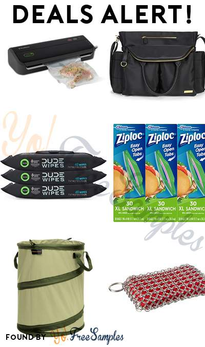 DEALS ALERT: FoodSaver Vacuum Sealer System, Skip Hop Chelsea Downtown Chic Diaper Satchel, DUDE Wipes Flushable Wet Wipes, Ziploc Sandwich Bags, XL, 3 Pack & More