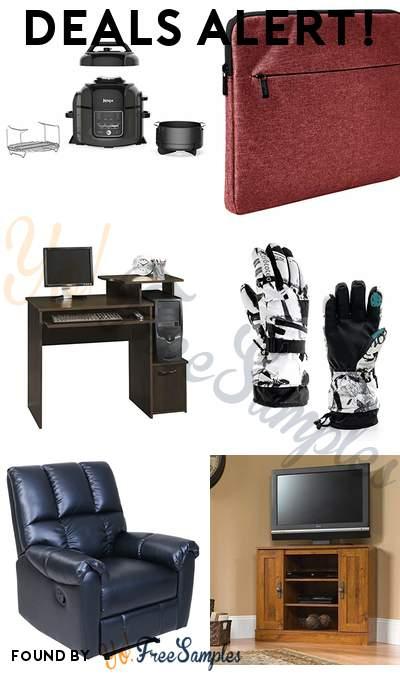 DEALS ALERT: Ninja Pressure Cooker, Steamer + Air Fryer, AmazonBasics Laptop Sleeve 13″, Sauder Beginnings Computer Desk, Snow Winter Ski Gloves Warm Touchscreen Friendly & More