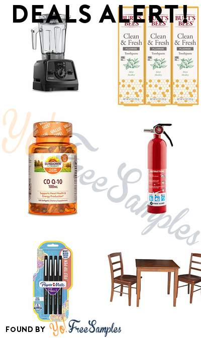 DEALS ALERT: Vitamix Venturist V1200, Burt's Bees Toothpaste, CoQ10, Home Fire Extinguisher & More