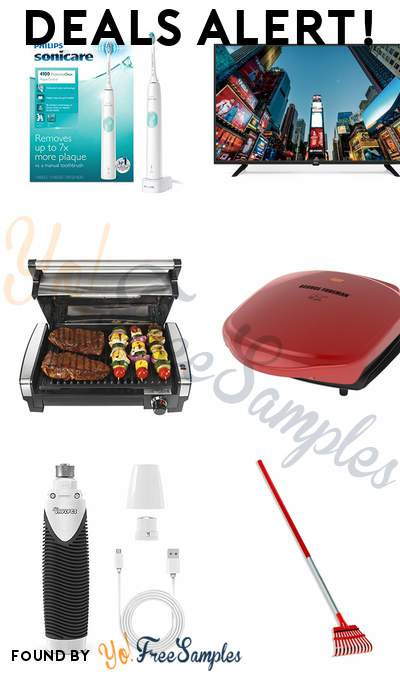 DEALS ALERT: Philips Sonicare Toothbrush, RCA 43″ Class 4K LED TV, Hamilton Beach Electric Indoor Searing Grill, George Foreman 2-Serving Classic Plate Electric Indoor Grill & More
