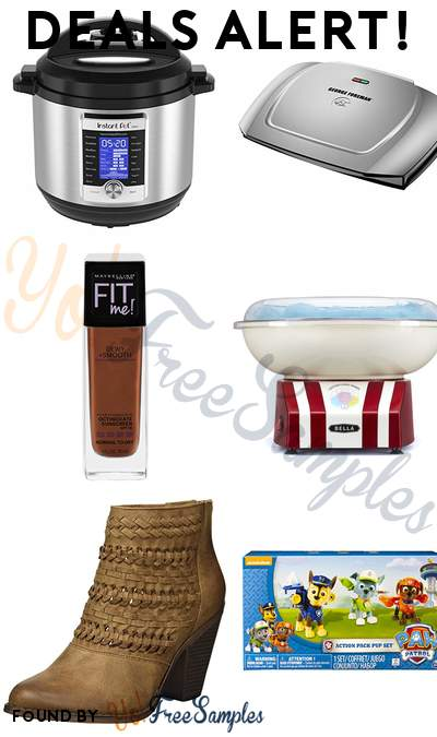 DEALS ALERT: Instant Pot Ultra 8 Qt, George Foreman 9-Serving Electric Grill, Maybelline New York Fit Me Dewy + Smooth Foundation, BELLA Cotton Candy Maker & More