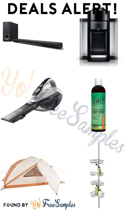 DEALS ALERT: Yamaha Sound Bar + Subwoofer, Nespresso by De'Longhi Machine, BLACK+DECKER Handheld Vacuum, The Seaweed Bath Co. Body Wash & More