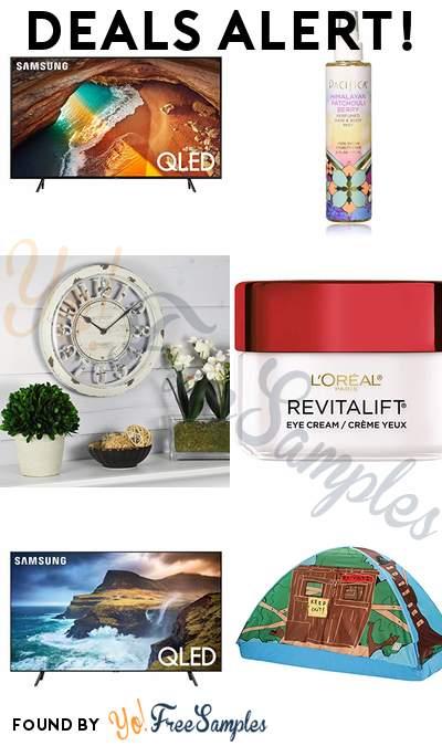 DEALS ALERT: Samsung 55-Inch QLED 4K Q60 Smart TV, Pacifica Beauty Perfumed Hair & Body Mist, Antique Contour Wall Clock, L'Oreal Paris Skincare Revitalift Anti-Wrinkle Cream & More