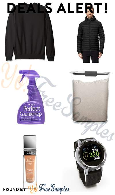 DEALS ALERT: Hanes Men's Ecosmart Fleece Sweatshirt, Heatkeep Nano Hooded Puffer Jacket, Hope's Perfect Countertop Cleaner and Polish, Rubbermaid 16 Cup Food Storage Container & More