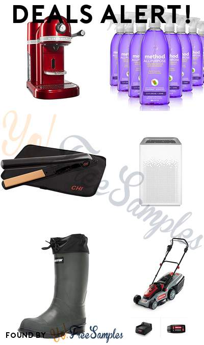 DEALS ALERT: KitchenAid Nespresso Maker, Method All Purpose Cleaner French Lavender (Pack 8), CHI Expert Classic Tourmaline Ceramic Flat Iron, Winix Wi-Fi Air Purifier & More
