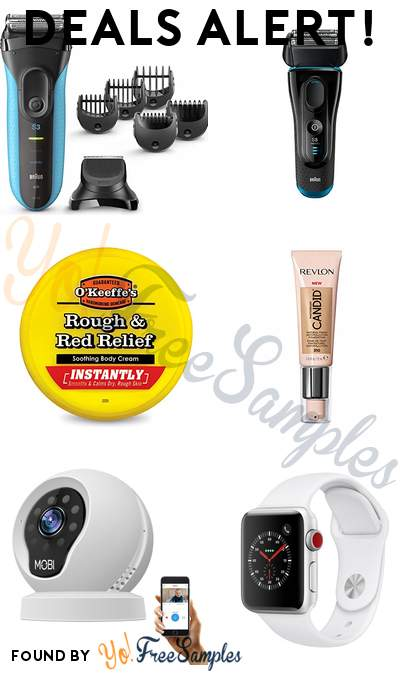 DEALS ALERT: Braun Series 3 + Series 5 Electric Razors, O'Keeffe's Soothing Body Cream, Revlon PhotoReady Finish Foundation & More