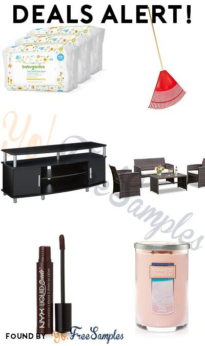 DEALS ALERT: Babyganics Baby Wipes,Leaf Rake, Ameriwood Home TV Stand, Goplus 4-Piece Rattan Patio Furniture Set & More