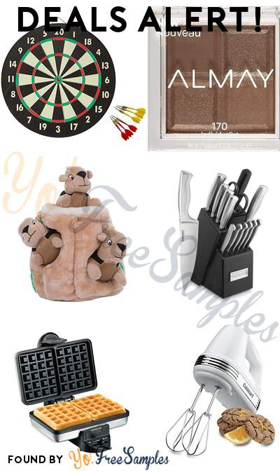 DEALS ALERT: Dartboard Game Set, Almay Eyeshadow Palette, Outward Hound Hide-A-Bird Interactive Puzzle Toy, Cuisinart 15pc Stainless Steel Hollow Handle Cutlery Block Set & More