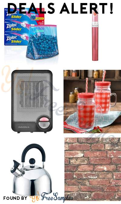 DEALS ALERT: Ziploc Gallon Slider Storage Bags, Revlon Ultra HD Gel Lipcolor, Insignia Desktop Ceramic Heater, The Pioneer Woman Cups & More