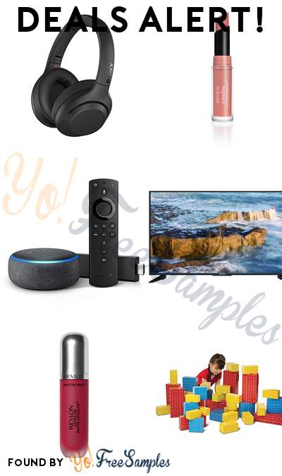 DEALS ALERT: Sony Wireless Noise Canceling Headphones, Revlon ColorStay Lipstick, Fire TV Stick 4K + Echo Dot Bundle, Sceptre 50″ 4K LED TV & More