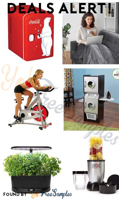 DEALS ALERT: Coca-Cola Mini Fridge, Gymax Weighted Blankets, Sunny Health Spin Bike, KidKraft Espresso Laundry Set & More