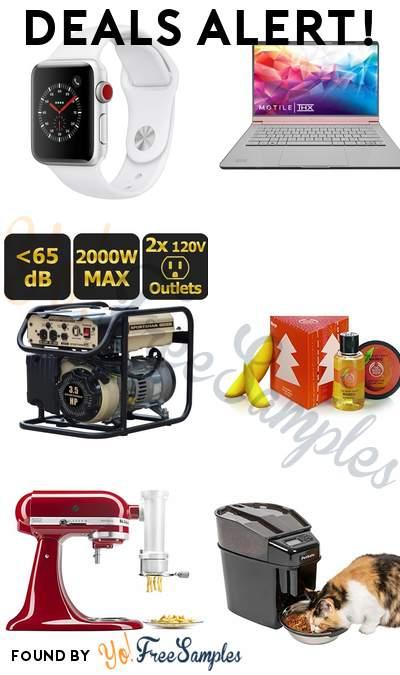 DEALS ALERT: Apple Watch Series 3, MOTILE 14″ Performance Laptop, Sportsman 2000-Watt Portable Generator, The Body Shop Mango Treats Cube Gift Set & More