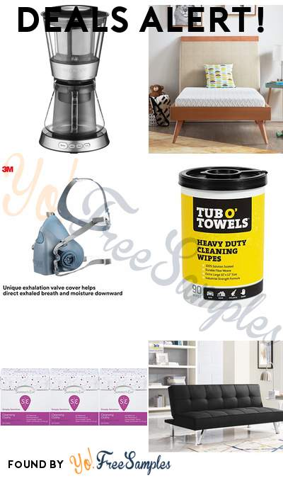 DEALS ALERT: Cuisinart Cold-Brew Coffee Maker, Rest Haven Twin Mattress, 3M Reusable Respirator, Tub O Towels Multi-Surface Cleaning Wipes & More