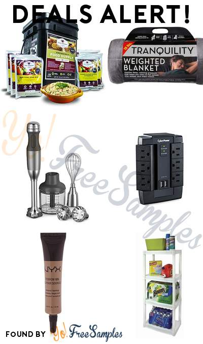 DEALS ALERT: Wise Company Emergency Food Supply, Tranquility Weighted Blanket, KitchenAid 5-Speed Hand Blender, CyberPower Surge Protector & More
