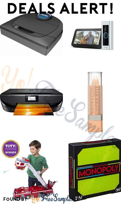 DEALS ALERT: Neato Robot Vacuum, Ring Video Doorbell Pro with Echo Show 5, HP Envy Wireless All-In-One Printer, Maybelline Cover Stick Concealer & More