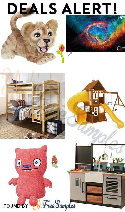 DEALS ALERT: The Lion King Simba Interactive Plush Toy, VIZIO 65″ Smart 4K TV, Twin Bunk Kids Bed, Kidkraft Castlewood Wooden Play Set & More
