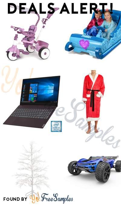 DEALS ALERT: Little Tikes 4-in-1 Pink Trike , Disney Frozen Sleigh Powered Ride, Lenovo ideapad S340 15.6″ Laptop, Men's Hooded Plush Santa Robe & More