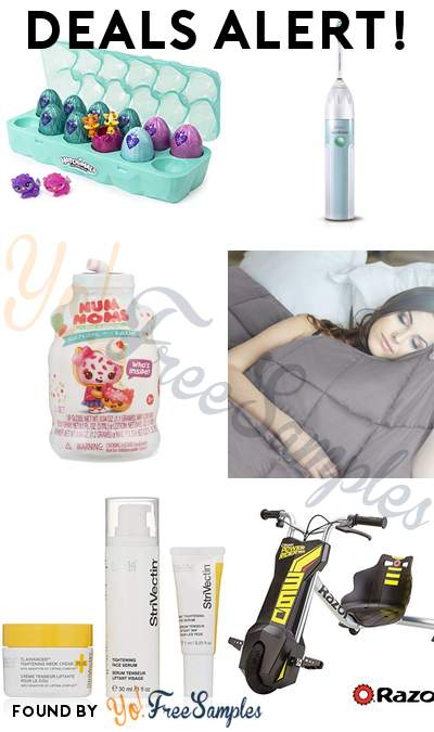 DEALS ALERT: Hatchimals Colleggtibles 12 Pack Egg Carton, Philips Sonicare Toothbrush, Num Noms Mystery Makeup, NEX Charcoal Weighted Blanket & More