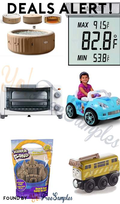 DEALS ALERT: Kinetic Sand, Fisher-Price, Intex Inflatable Hot Tub, La Crosse Digital Window Thermometer, Mainstays Toaster Oven, Disney Frozen Convertible Car & More