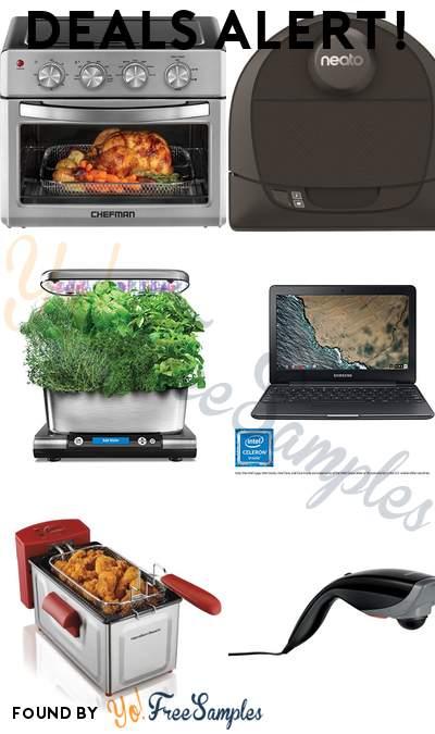 DEALS ALERT: CHEFMAN Toaster Oven Air Fryer, Neato Botvac D4 Robot Vacuum, AeroGarden Harvest Elite, Samsung Chromebook 3 & More