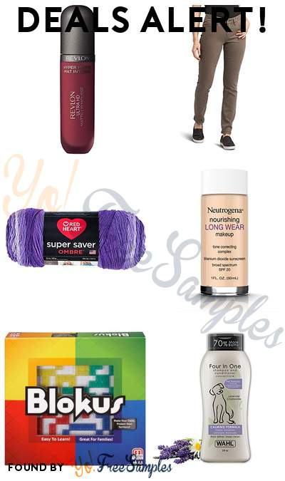 DEALS ALERT: Revlon Liquid Lipstick, prAna Womens Kayla Jeans, RED HEART Super Saver Ombre Yarn, Neutrogena Long Wear Liquid Makeup Foundation With Sunscreen & More