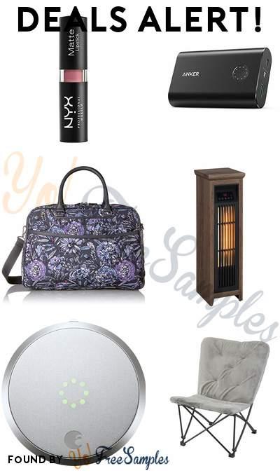DEALS ALERT: NYX Matte Lipstick, Anker PowerCore+ 10050mAh Power Bank, Vera Bradley Weekender, Powerheat Infrared Tower Heater & More