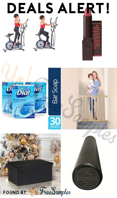 DEALS ALERT: Body Champ Elliptical +Exercise Bike, Burt's Bees Moisturizing Lipstick, Dial Bar Soap 30 Count, Dreambaby Gro-Gate & More