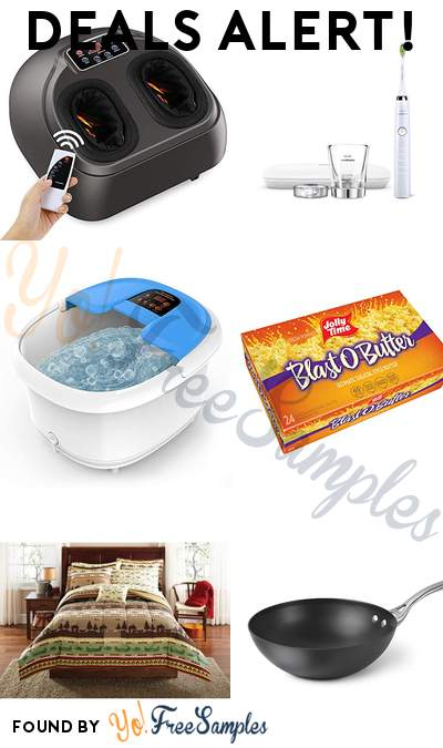 DEALS ALERT: Foot Massage With Air Compression Machine, Philips Sonicare Toothbrush, Arealer Foot Spa Bath Massager, JOLLY TIME Blast O Butter Popcorn 24-Pack & More