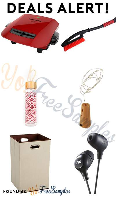 DEALS ALERT: George Foreman Grill, Power Snowbrush, Glass Water Bottle with Bamboo Cap, Cork Mini String Lights & More
