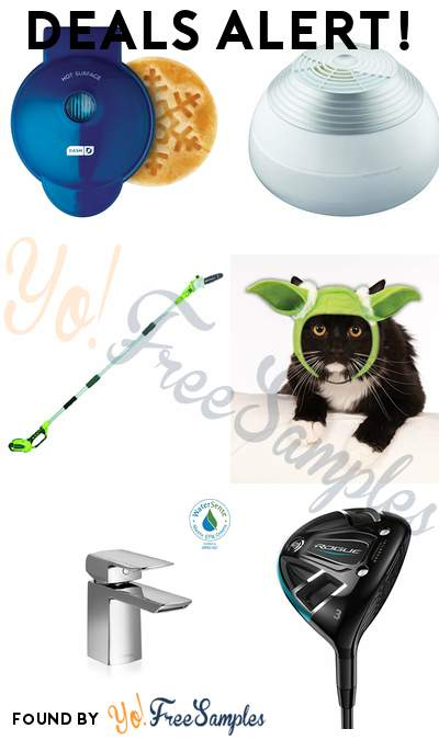 DEALS ALERT: Mini Waffle Maker, Humidifier, Cordless Pole Saw, Star Wars Pet Cat Yoda Ears & More