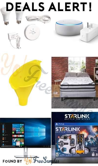 DEALS ALERT: Philips LED Smart Wireless Lighting Starter Kit, Echo Dot With Amazon Smart Plug, Hopkins FloTool Spill Saver Radiator Funnel, Modern Sleep 12 Inch Wrapped Coil Pillow-Top Mattress-in-a-Box & More