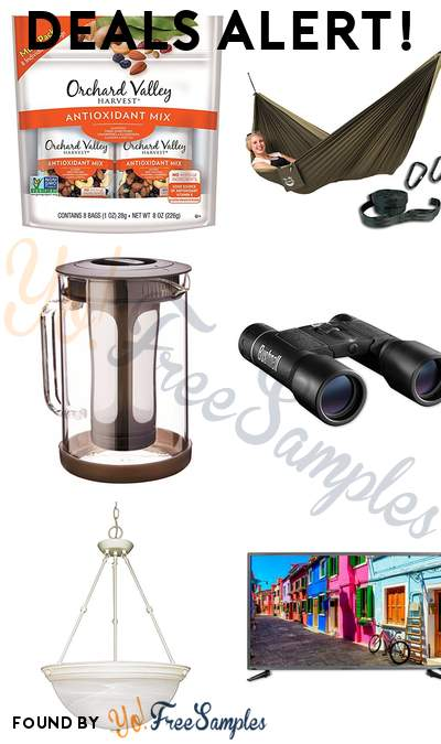 DEALS ALERT: Orchard Valley Antioxidant Mix, Blue Sky Ultralight Hammock, Primula Cold Brew Iced Coffee Maker, Bushnell Binocular & More