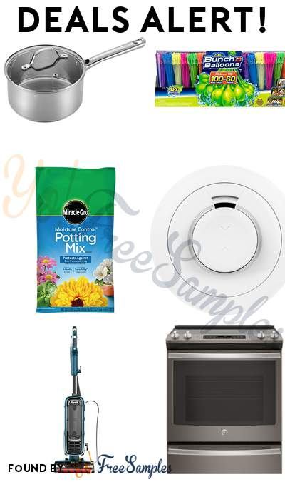 DEALS ALERT: T-fal Sauce Pan, Bunch O Balloons 12 Pack, Miracle-Gro Potting Mix, Samsung SmartThings Smart Smoke Alarm & More