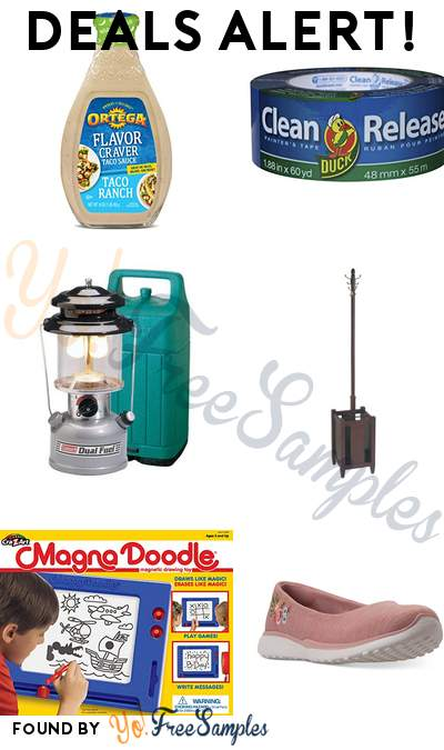 DEALS ALERT: Ortega Flavor Craver Taco Sauce, Duck Clean Release Blue Painter's Tape, Coleman Dual-Fuel Camping Lantern, Office Star Espresso Coat Rack & More