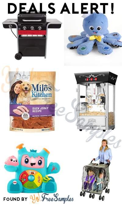 DEALS ALERT: Gas2Coal Hybrid Grill, Baby Einstein Octoplush Musical Plush Toy, Duck Jerky Dog Treat, Antique Style Popcorn Popper Machine & More